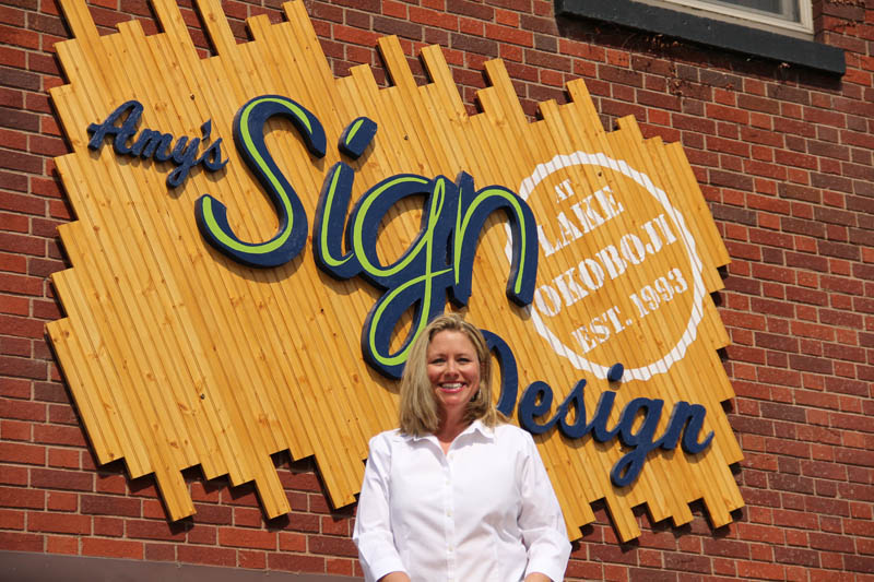 Amy Storefront Sign