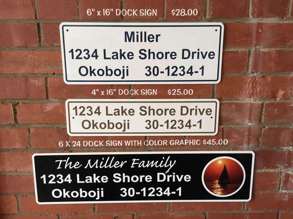 Dock Signs
