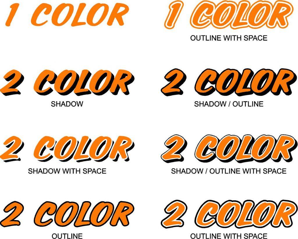 Boat Font Colors