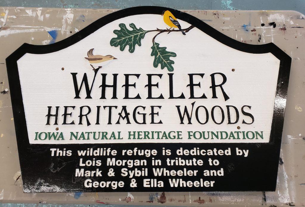 Wheeler Heritage Woods Sign