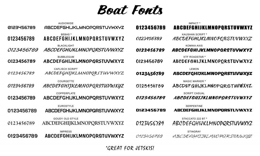 Boat Fonts
